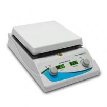 Agitatore magnetico con piastra scaldante digitale fino a 380°C. Vel. 150 a 1500 rpm. Piastra in ceramica