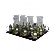 Piattaforma con morsetti per flaconi da 100 - 150 ml (12 posti)