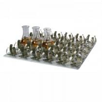 Piattaforma con 30 morsetti per beute da 100 ml