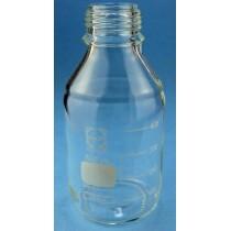 Bottiglie in vetro chiaro, collo largo, tappo a vite