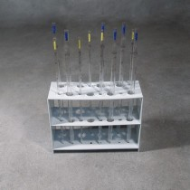 Support rack for 20 microtubes on 2 levels with numbered seats. 2 pieces
