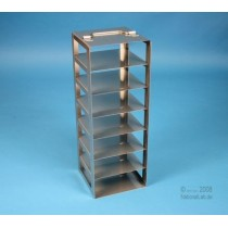 Colonna inox per alloggiare 4 Cryoboxes alte 50mm. Altezza totale 226mm.