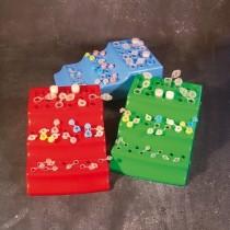 Supporto portaprovette per 20 microtubi su 2 livelli con posti numerati. 2 pezzi
