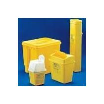 Contenitori rifiuti speciali in PE da 2 litri. Con maniglia. Dim in mm.Ø superiore 148 x 162h. 1 pezzo