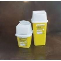 Contenitore raccolta siringhe, vacutainer e altro. Volume 4 litri. Dim. 165x165x230mm. 1 pezzo
