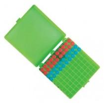 FreezerBox con coperchio incernierato per conservazione 100 microtubi da 1,5 / 2,0. Confezione 5 pezzi in colori ass
