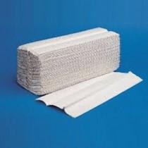 Asciugamani piegati a Z. Pura cellulosa vergine a 2 veli microcollati con decoro. Conf. 221 pz.