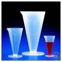 Bicchieri conici in PP trasparente 100/1000 ml graduati
