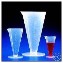Glasses conical in PP transparent 100/1000 ml graduated