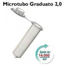 Microtubi graduati da 2,0, colore neutro in buste da 500 pezzi