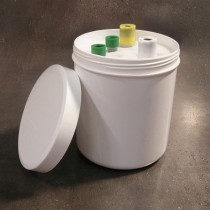 Cylindrical container for tubes