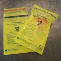 Bags with closure tamper evident