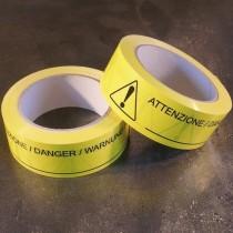 Nastro adesivo con indicatore di pericolo