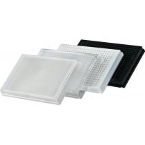Piastra 384 Riplate in PS trasparenti fondo piatto