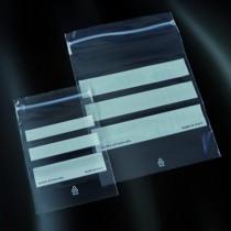sacchetti zip-lock per campionamento in PE  con area di scrittura  160x220 mm