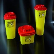 Contenitori per rifiuti speciali e taglienti in PP  da 5 lt.  forma quadrata-Cf.40pz