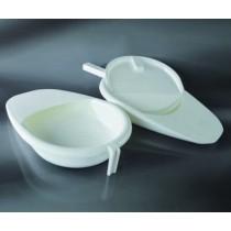 padella per ammalati con manico ergonomico CE in PP  cap. 2.500 ml - autoclavabile - confezione da 1 pezzo-Cf.24pz