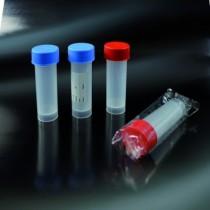 contenitori per campioni biologici sterili CE da 25 ml 25x90 in PP tappo a vite etichettati - confezione singola