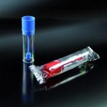 contenitori per feci non sterili CE da 18 ml 22x63 in PS tappo a pressione con paletta
