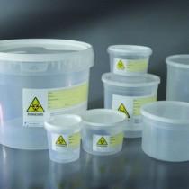 contenitori trasparenti per pezzi chirurgici - tappo a pressione CE Ø 214x182 mm da 5000 ml