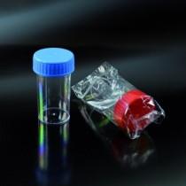 contenitori per campioni biologici non sterili CE da 60 ml 35x70 in PS tappo a vite