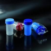contenitori per campioni biologici non sterili CE da 60 ml 35x70 in PP tappo a vite graduati