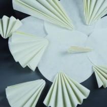 Filter paper, filtration fast, bent discs Ø 200 mm