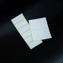 etichette autoadesive resistenti ad acidi e solventi in poliestere bianco 65x98 mm in bobine