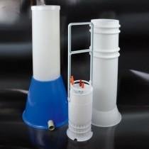 contenitore pipette in polipropilene per lavapipette dim. Ø 162x650 mm