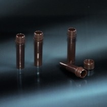 microtubes opaque with screw cap 2 ml with base in PP of the color brown without cap