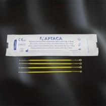 anse sterili per inoculazione tipo flessibile CE in PS con doppio anello 1+10ul - sacchetti peel-pack da 5 pezzi