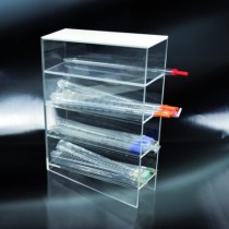 portapipette-the-counter in PMMA 4 shelves