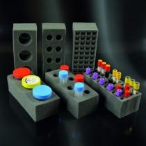 Supporti in materiale assorbente 8 posti per contenitori feci 18-30 ml