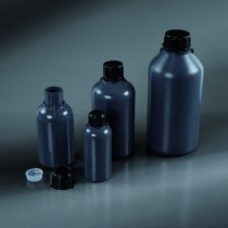 round bottles narrow neck, dark grey 250 ml