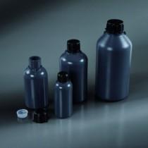 bottiglie cilindriche collo stretto grigio scuro da 1000 ml