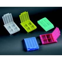 cassette per inclusione a SCOMPARTI griglia rettangolare CE con 4 scomparti