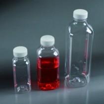 bottiglie quadrate trasparenti in PET da 500 ml tappo a sigillo