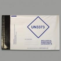 Busta in PE taglia C4 224x324mm marchiata UN3373 Cat. 3 per campioni biologici