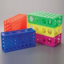 Rack 4 lati per provette e microtubi di varie misure da 0.5 a 50ml. Colori assortiti