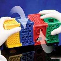 Rack Twist-Lock Combirack a 4 lati per provette e microtubi varie misure da 0.5 a 50ml