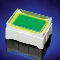 Rack IsoFreeze MCT a viraggio colore verde/giallo 7°. Posti 24 x 0.5-1.5 o 2.0ml
