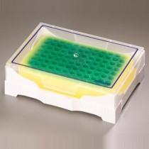 Rack IsoFreeze PCR a viraggio colore verde/giallo 7°. Posti 96 x 0.2ml