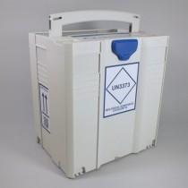 Contenitore trasporto MedDxTrainer 4 - UN3373. Dim.415x315x445mm Impilabile per trasporto multiplo