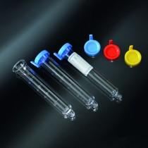 provette speciali per urina in PS 17x105 con pozzetto di raccolta del sedimento senza tappo