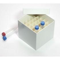 Box in cartone 148x148 con divisore 6x6&#44 bianco &#45 per provette 15ml fondo conico