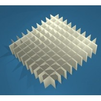 Griglia 10x10 per box in cartone 136x136&#44 per vial 1.0 / 2ml