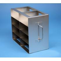 Rack orizzontale acciaio griglia 2x4 (orizz / vert) 8 box per microt/vial 2ml&#44 &#45Dim. 142x286x224mm