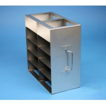 Rack orizzontale acciaio griglia 2x5 (orizz / vert) 10 box per microt/vial 2ml&#44 &#45Dim. 142x286x279mm