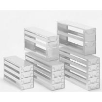 Rack a cassetti acciaio &#44 5 cassetti x 2 box microt/vial 2ml&#44 &#45Dim 145x308x306 (LxPxH)