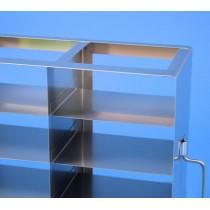 Rack orizzontale acciaio griglia 2x6 (orizz / vert) 12 box per microt/vial 2ml&#44 &#45Dim. 142x286x334mm